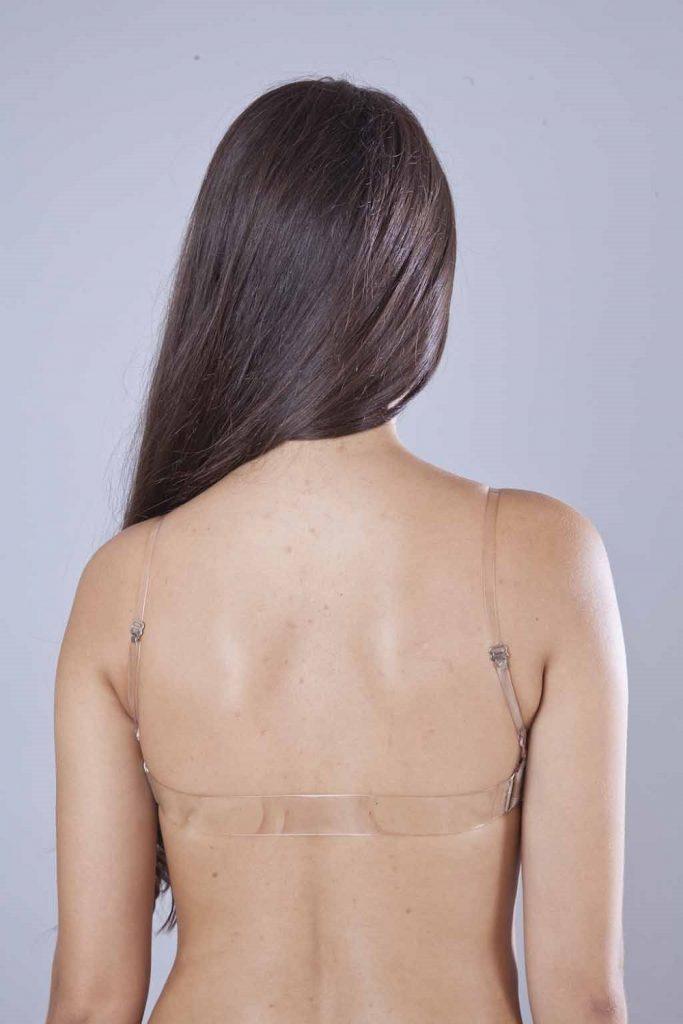 Sutiã com costas de silicone para roupa decotada nas costas